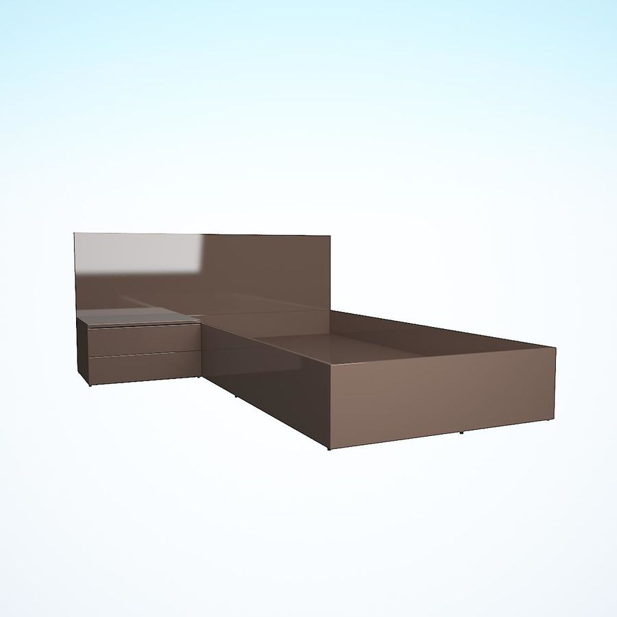 Realistic Bed 08 royalty-free 3d model - Preview no. 27