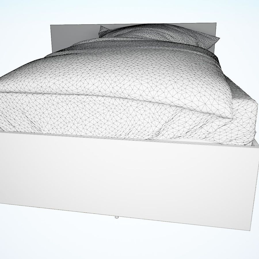 Realistic Bed 08 royalty-free 3d model - Preview no. 23