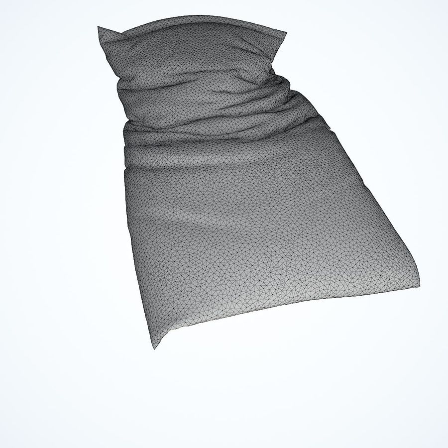 Realistic Bed 08 royalty-free 3d model - Preview no. 34