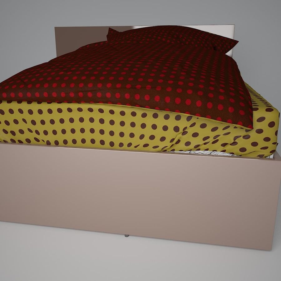 Realistic Bed 08 royalty-free 3d model - Preview no. 5