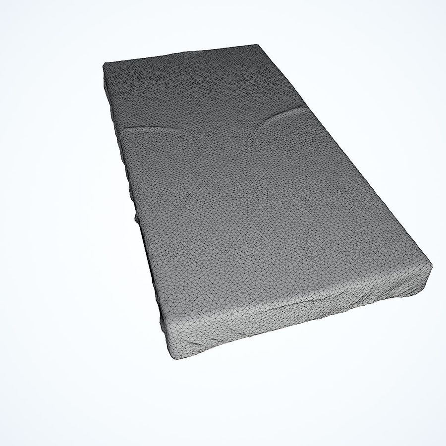 Realistic Bed 08 royalty-free 3d model - Preview no. 32