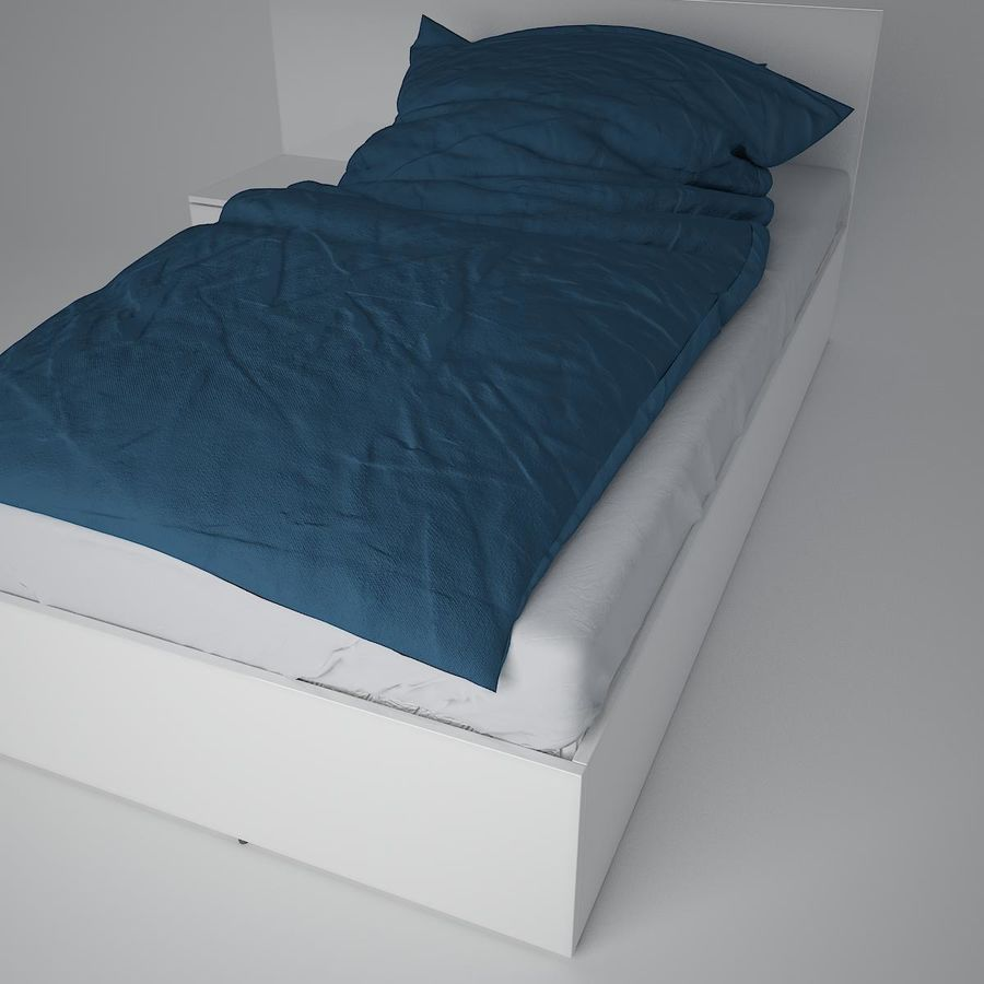 Realistic Bed 08 royalty-free 3d model - Preview no. 13