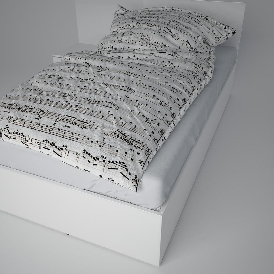 Realistic Bed 08 royalty-free 3d model - Preview no. 19