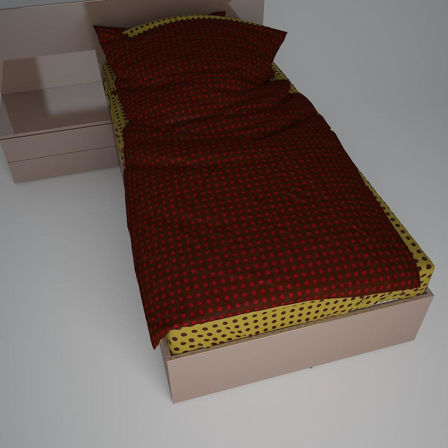 Realistic Bed 08 royalty-free 3d model - Preview no. 6