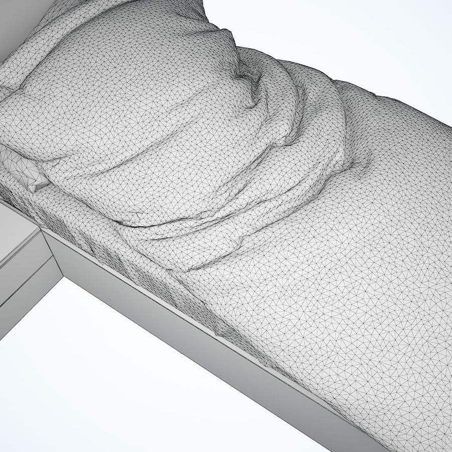 Realistic Bed 08 royalty-free 3d model - Preview no. 22