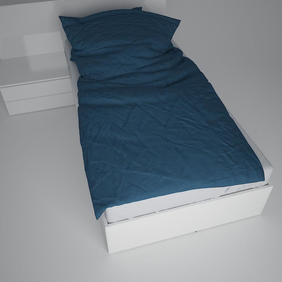 Realistic Bed 08 royalty-free 3d model - Preview no. 12