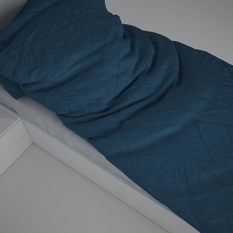 Realistic Bed 08 royalty-free 3d model - Preview no. 10