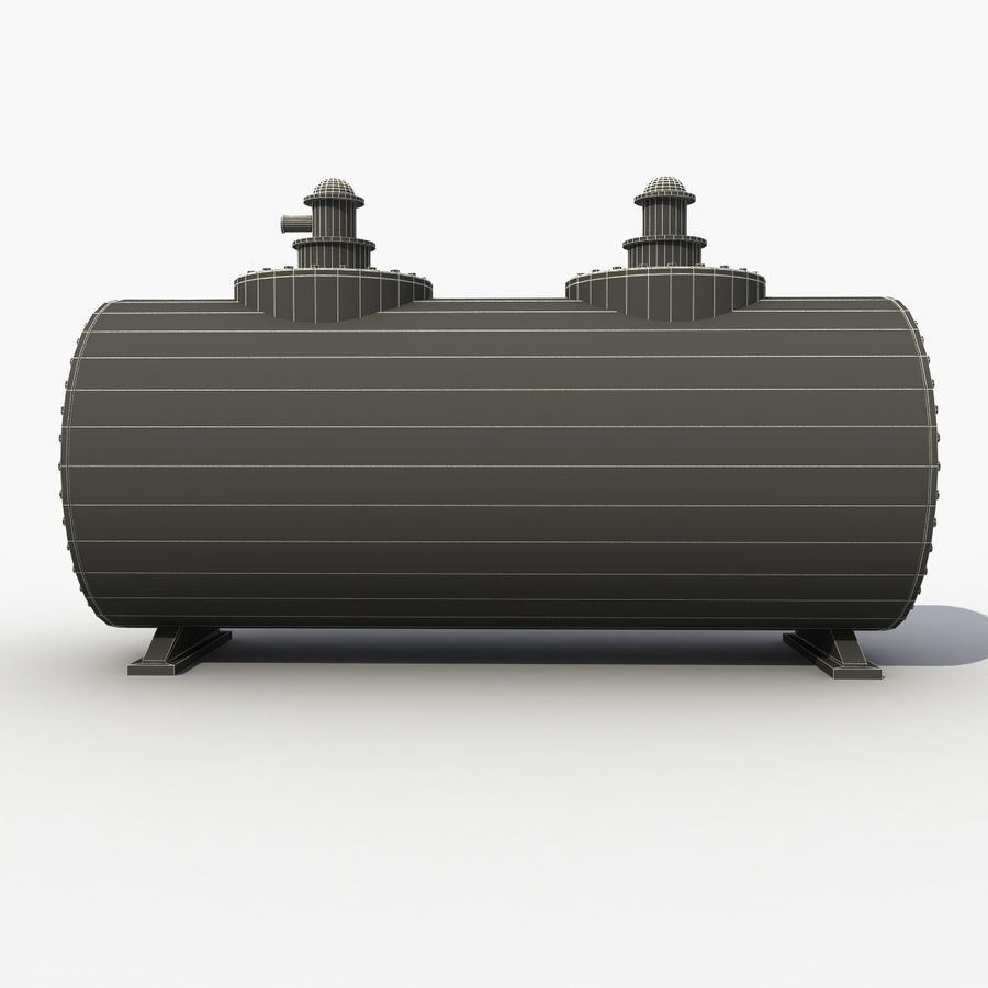 Old Oil Tank royalty-free 3d model - Preview no. 8