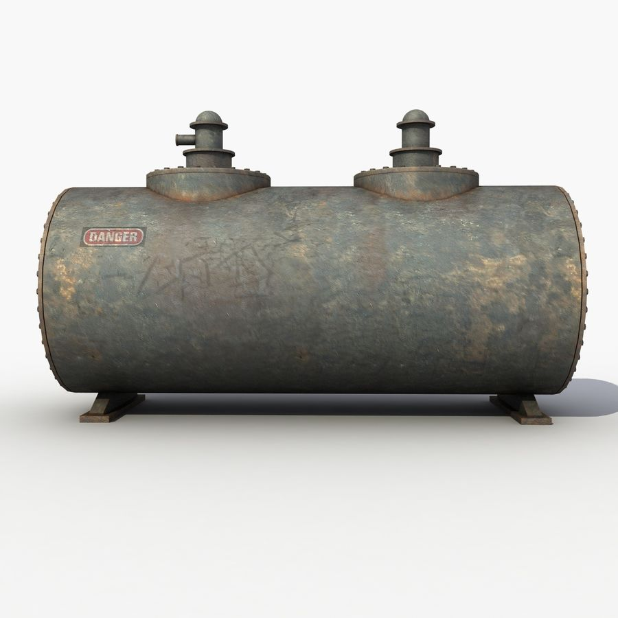 Old Oil Tank royalty-free 3d model - Preview no. 3