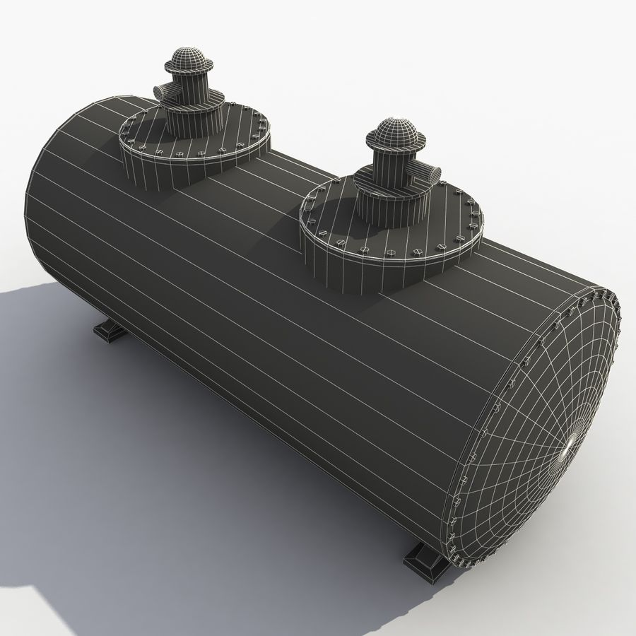 Old Oil Tank royalty-free 3d model - Preview no. 10