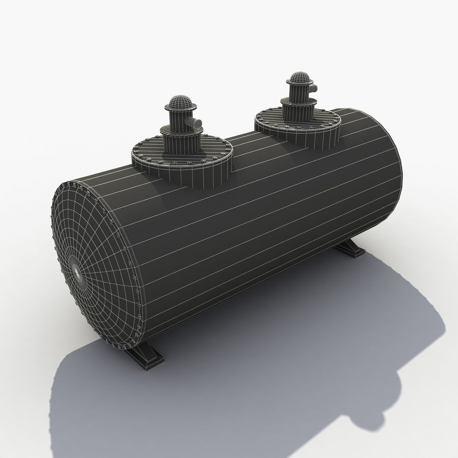 Old Oil Tank royalty-free 3d model - Preview no. 9