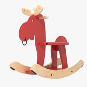 Wooden Moose Toy 3d model