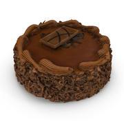 Schokoladenkuchen 03 3d model