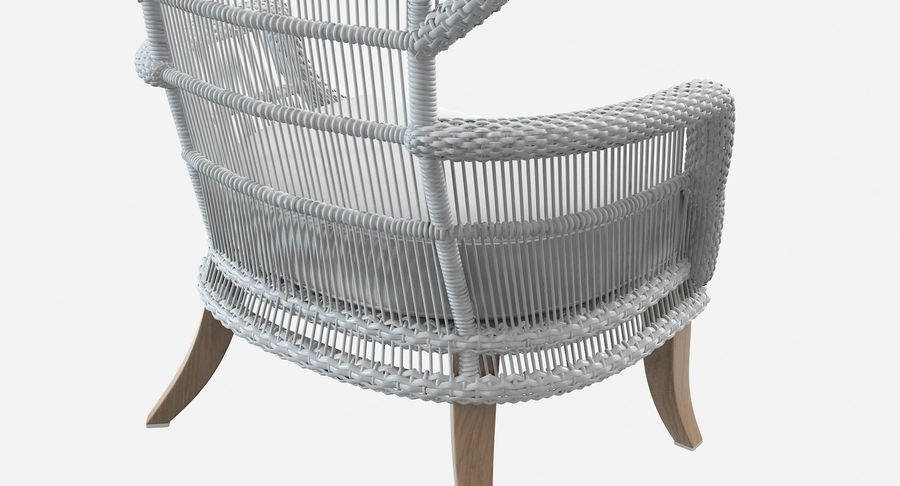 Made Goods Aurora Outdoor Wingback Rattan Chair 3d Model