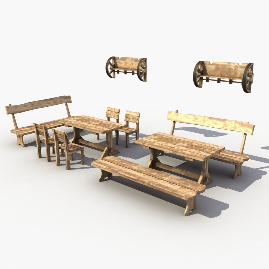 Accessories Vintage Cafe royalty-free 3d model - Preview no. 4