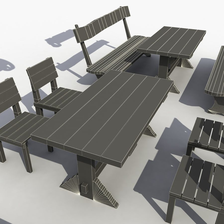 Accessories Vintage Cafe royalty-free 3d model - Preview no. 9