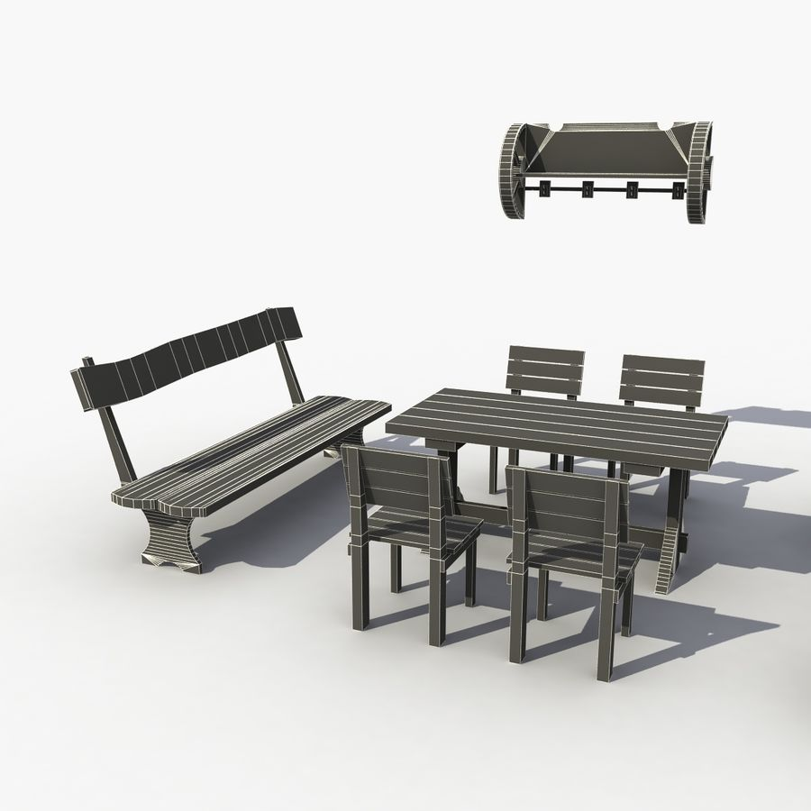 Accessories Vintage Cafe royalty-free 3d model - Preview no. 7