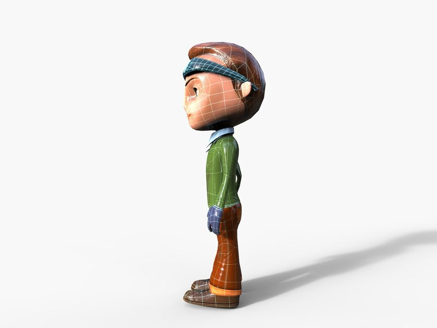 garçon de dessin animé royalty-free 3d model - Preview no. 25