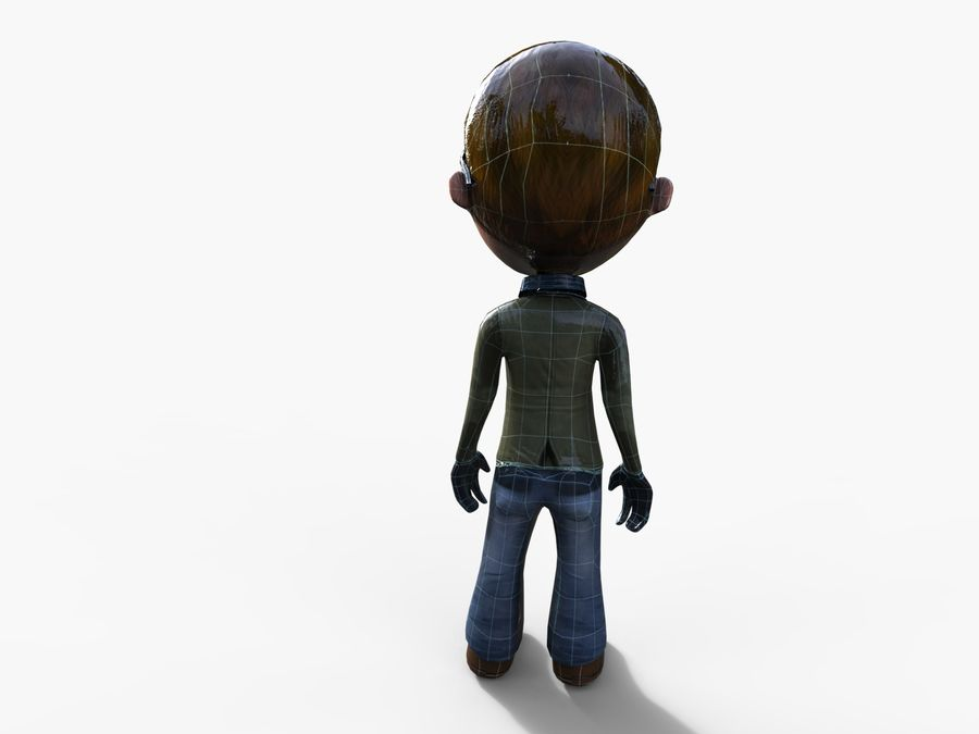 garçon de dessin animé royalty-free 3d model - Preview no. 35