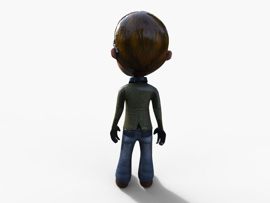 garçon de dessin animé royalty-free 3d model - Preview no. 30