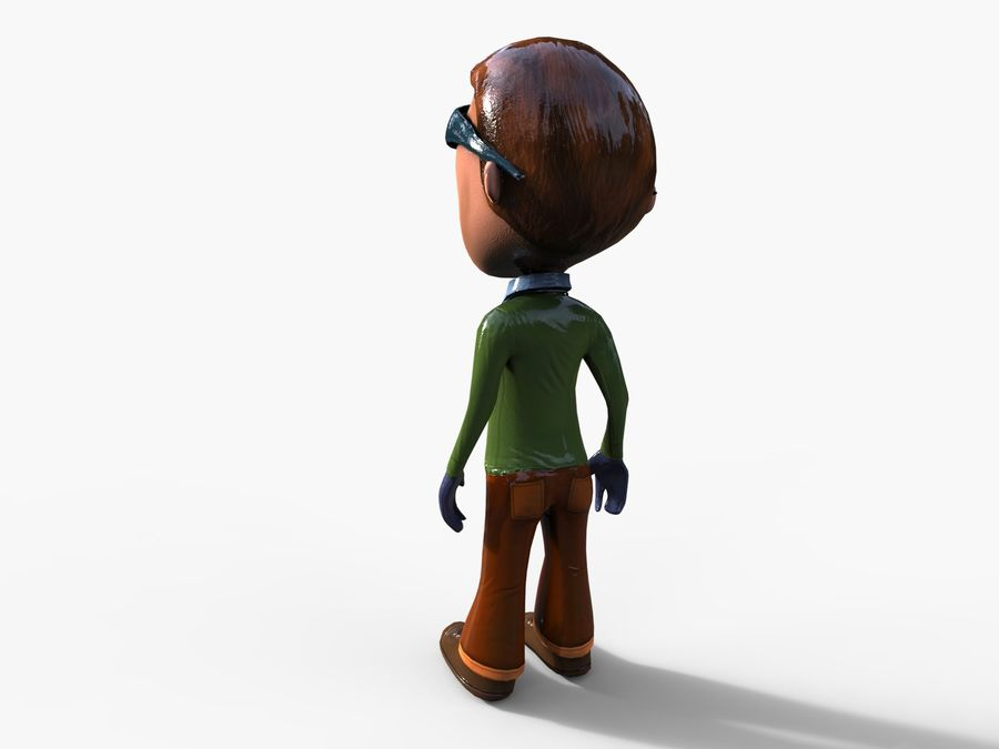 garçon de dessin animé royalty-free 3d model - Preview no. 18
