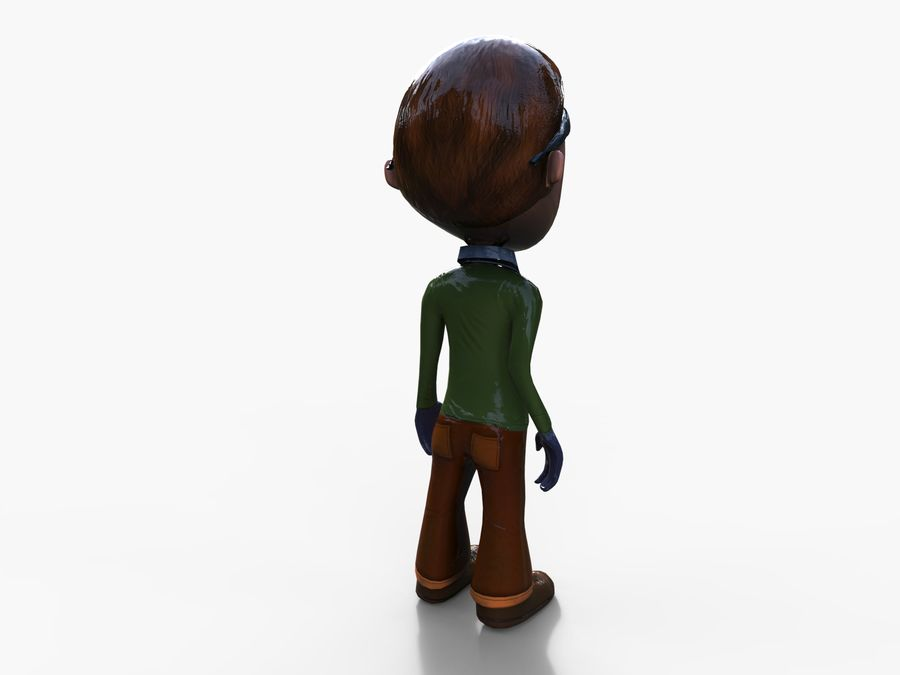garçon de dessin animé royalty-free 3d model - Preview no. 19
