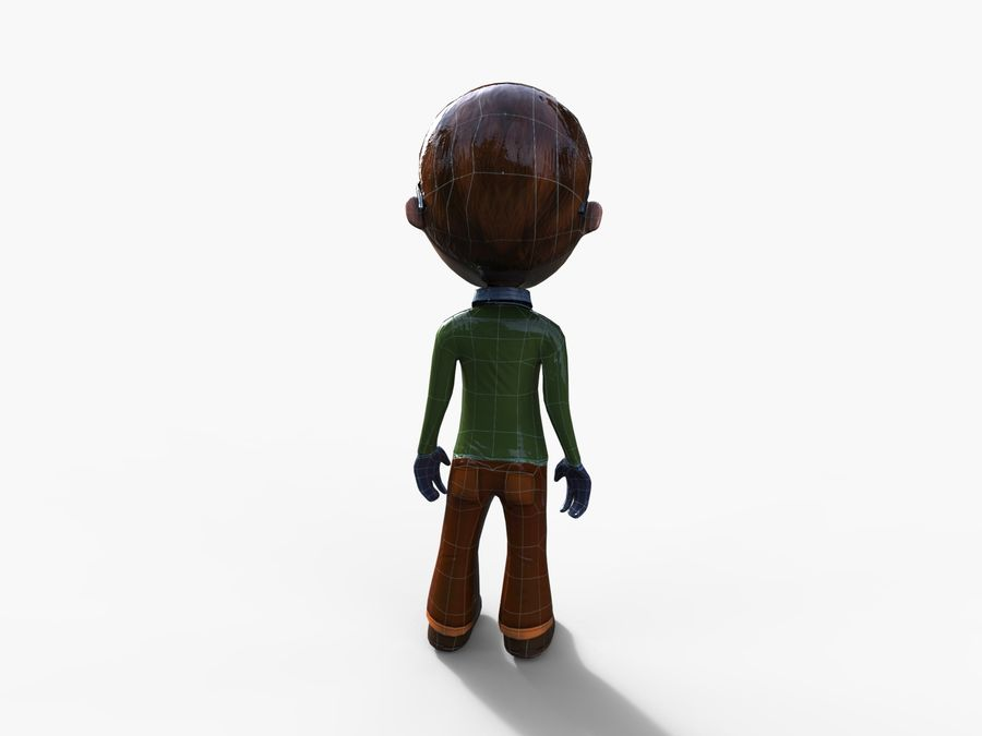garçon de dessin animé royalty-free 3d model - Preview no. 26