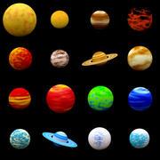 Cartoon planet pack 3d model