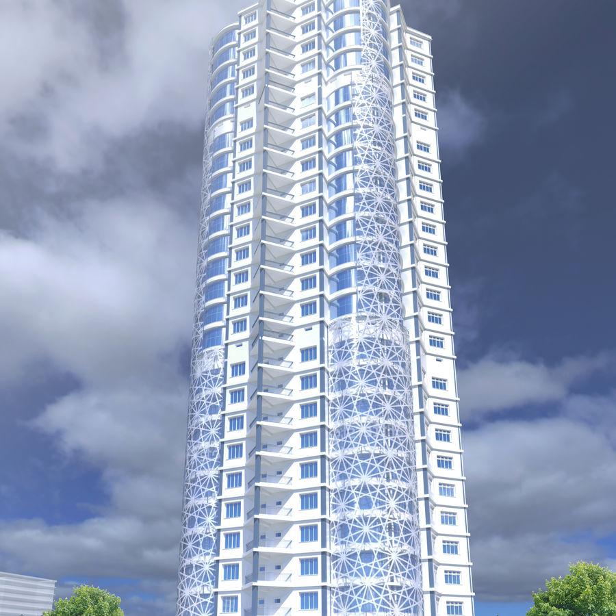 Byggnad med flera våningar royalty-free 3d model - Preview no. 5