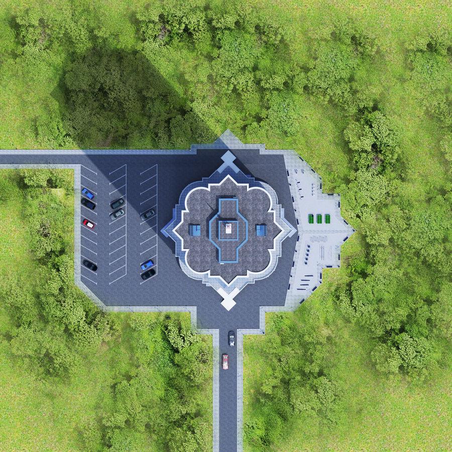 Byggnad med flera våningar royalty-free 3d model - Preview no. 9