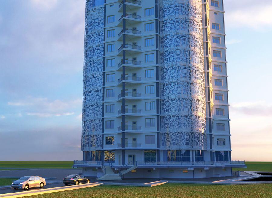 Byggnad med flera våningar royalty-free 3d model - Preview no. 4