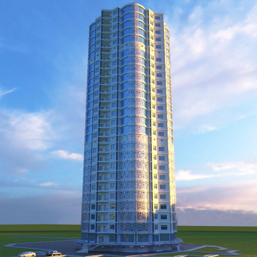 Byggnad med flera våningar royalty-free 3d model - Preview no. 7
