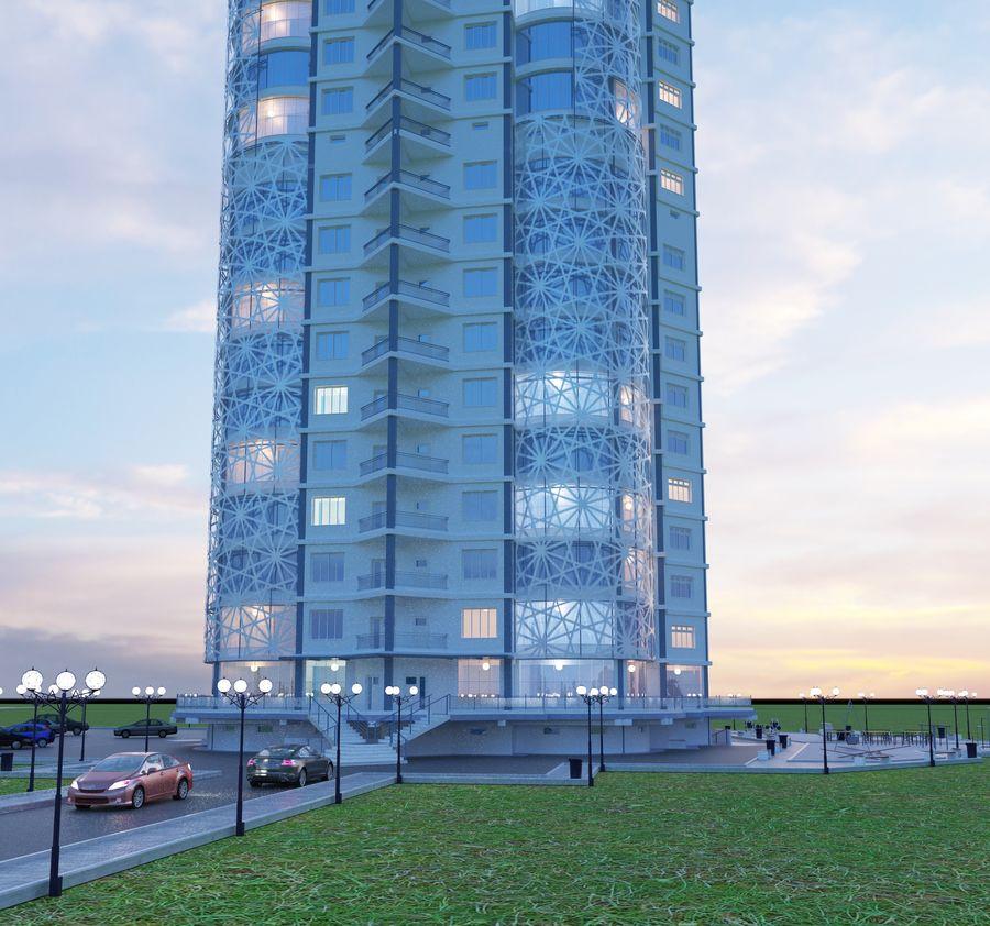 Byggnad med flera våningar royalty-free 3d model - Preview no. 8
