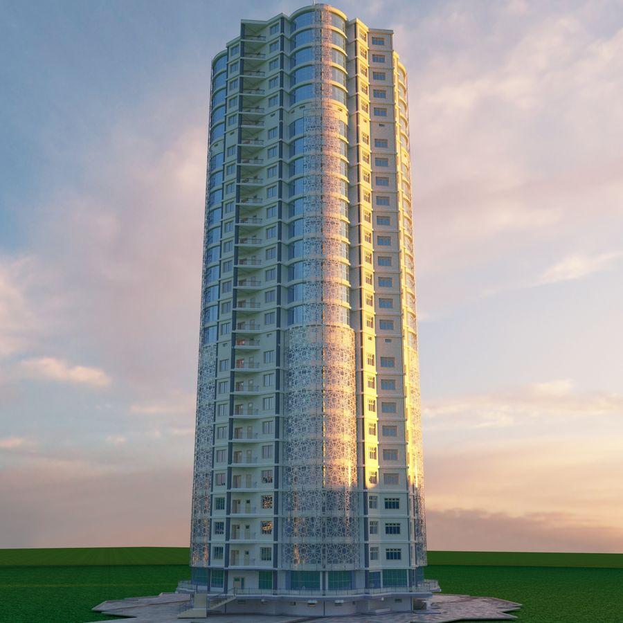 Byggnad med flera våningar royalty-free 3d model - Preview no. 3