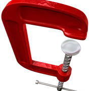 Röd klämma 3d model
