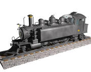 Steam locomotive WB299 3d model