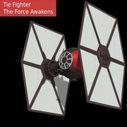 Tie Fighter First Order 3d model