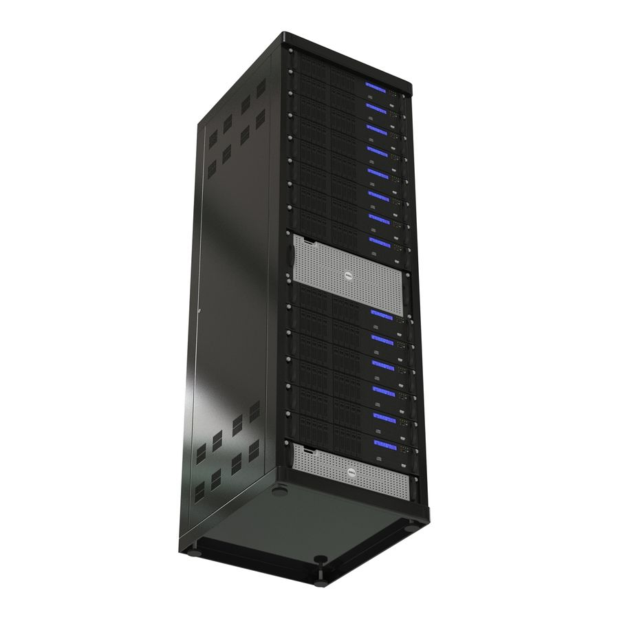 Servers in Rack royalty-free 3d model - Preview no. 8