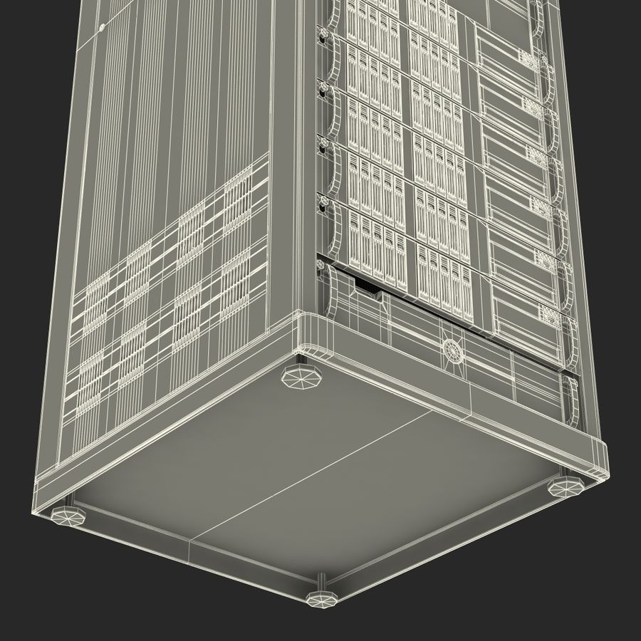 Servers in Rack royalty-free 3d model - Preview no. 26