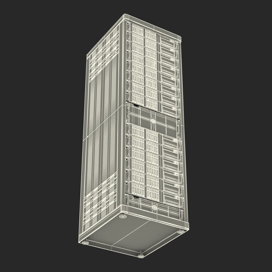 Servers in Rack royalty-free 3d model - Preview no. 23