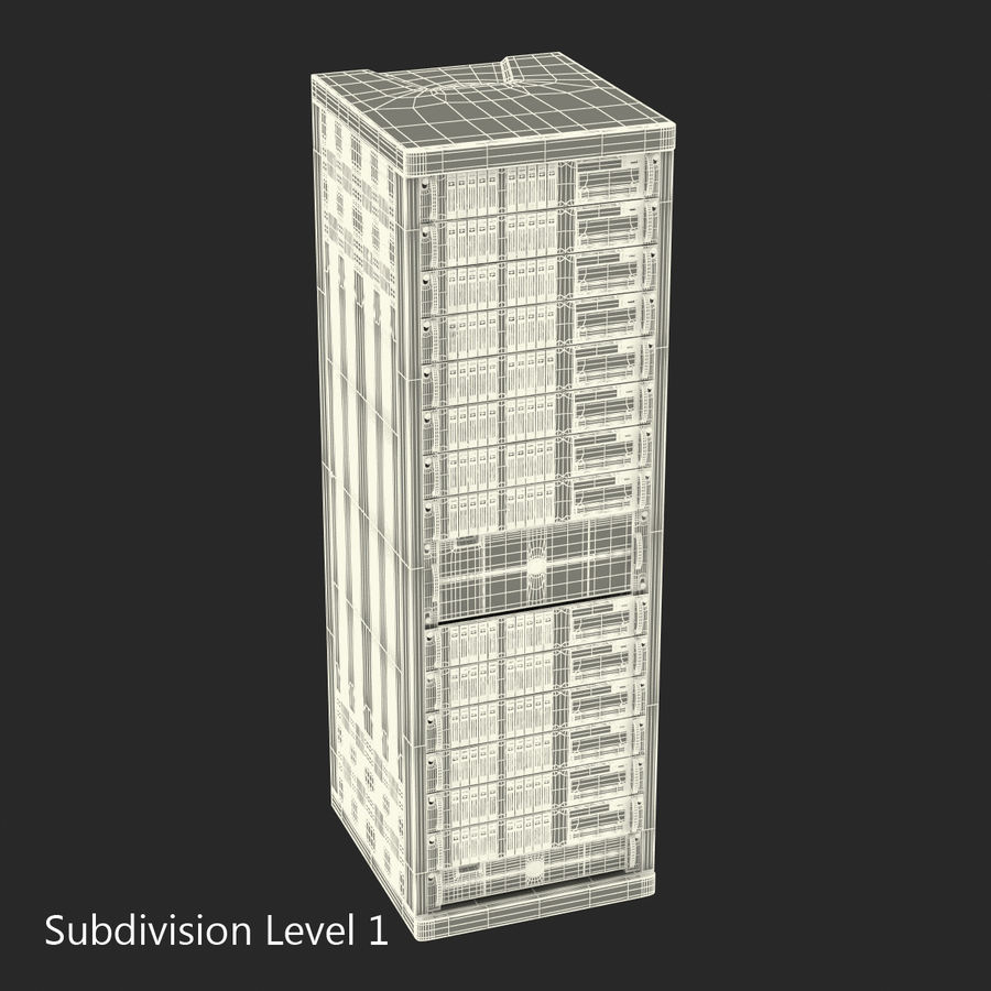 Servers in Rack royalty-free 3d model - Preview no. 15