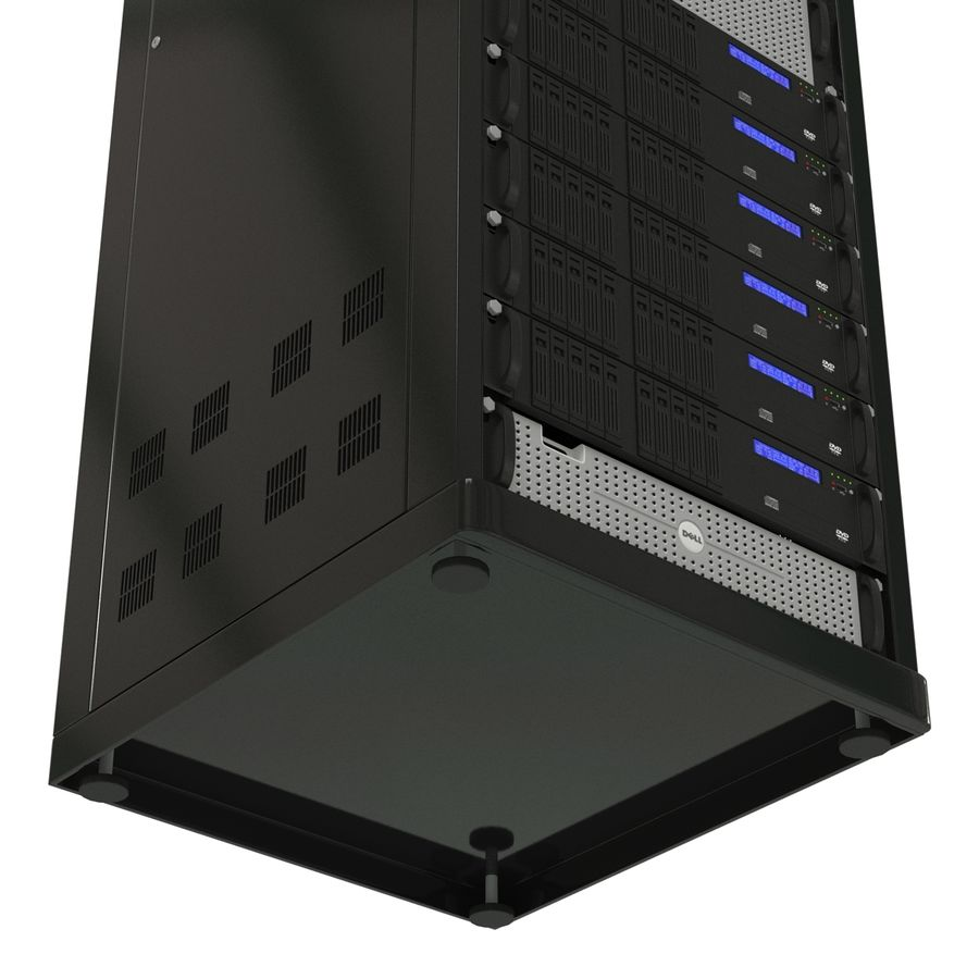 Servers in Rack royalty-free 3d model - Preview no. 13