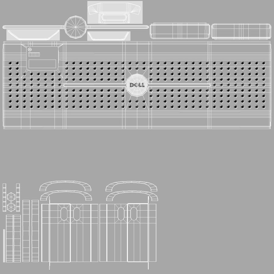 Servers in Rack royalty-free 3d model - Preview no. 17