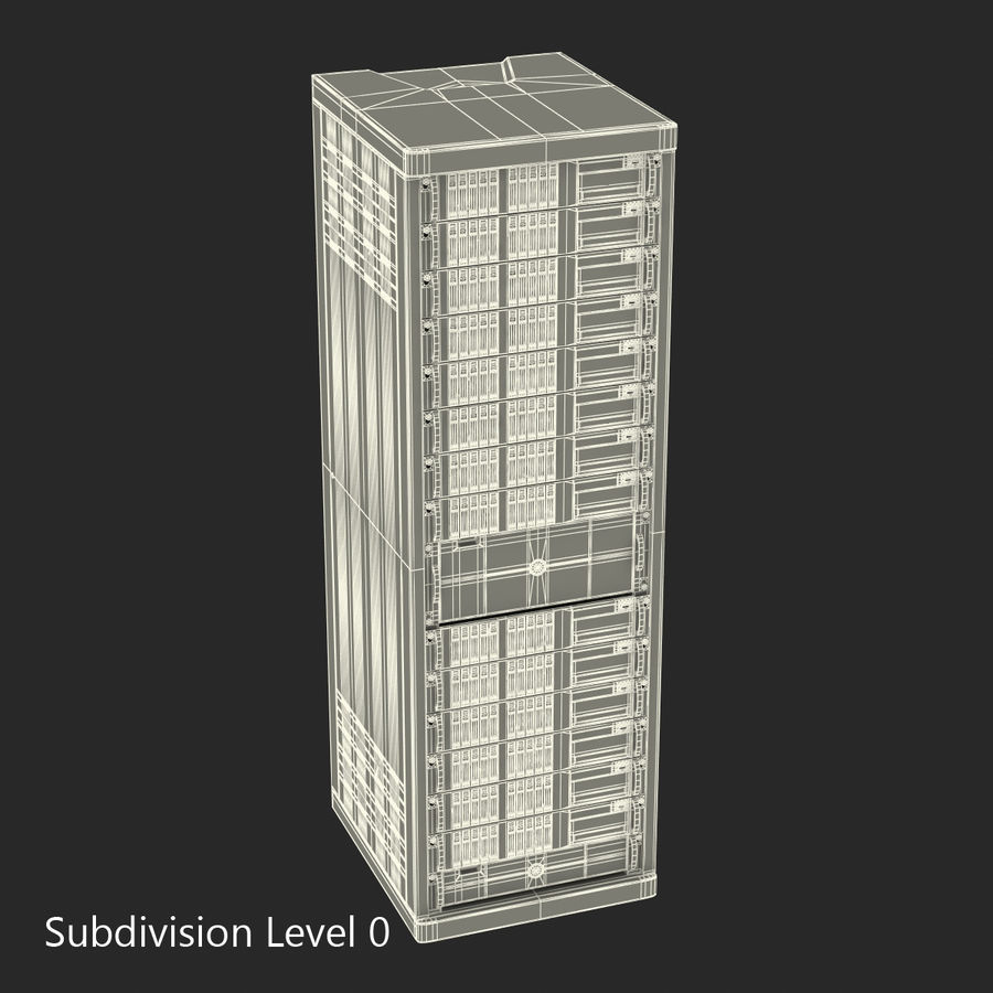 Servers in Rack royalty-free 3d model - Preview no. 14
