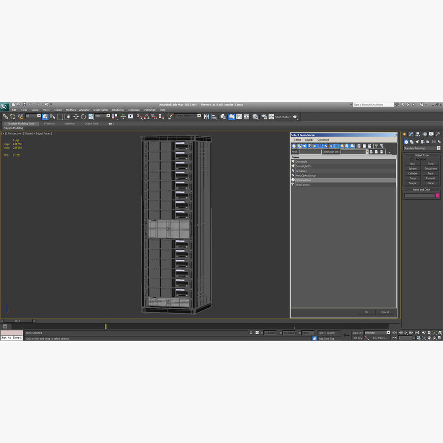 Servers in Rack royalty-free 3d model - Preview no. 20