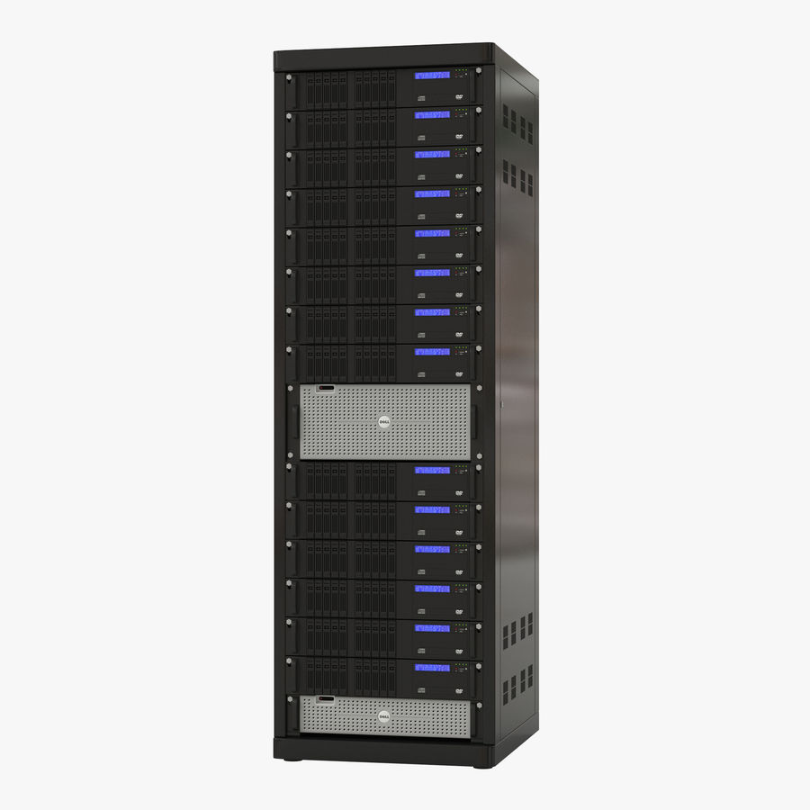 Servers in Rack royalty-free 3d model - Preview no. 1
