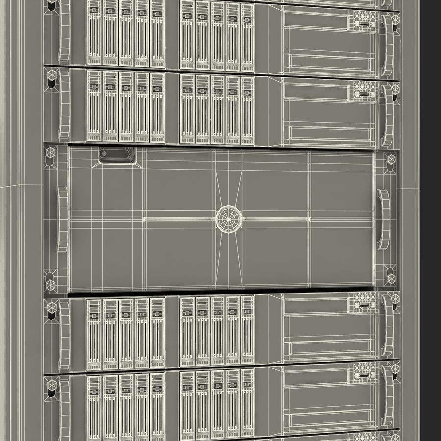 Servers in Rack royalty-free 3d model - Preview no. 27