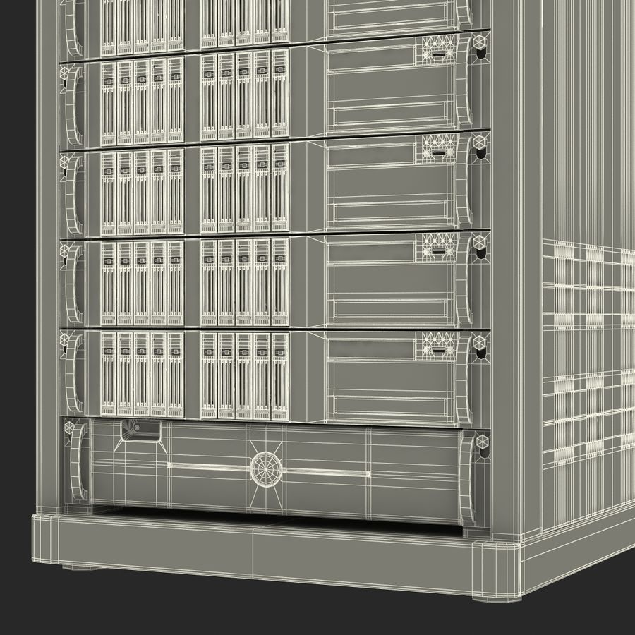 Servers in Rack royalty-free 3d model - Preview no. 25