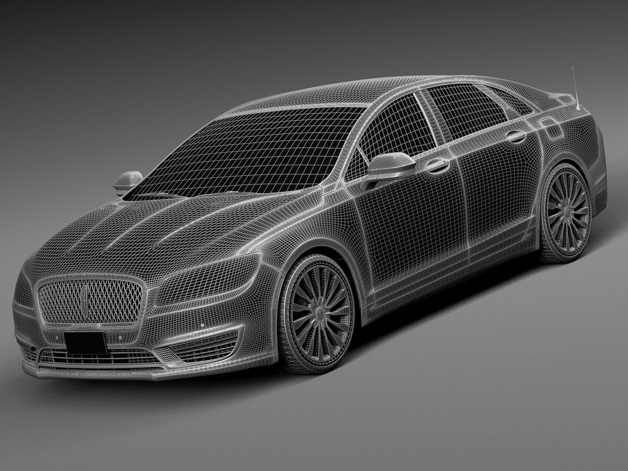 Lincoln MKZ 2017 royalty-free 3d model - Preview no. 13