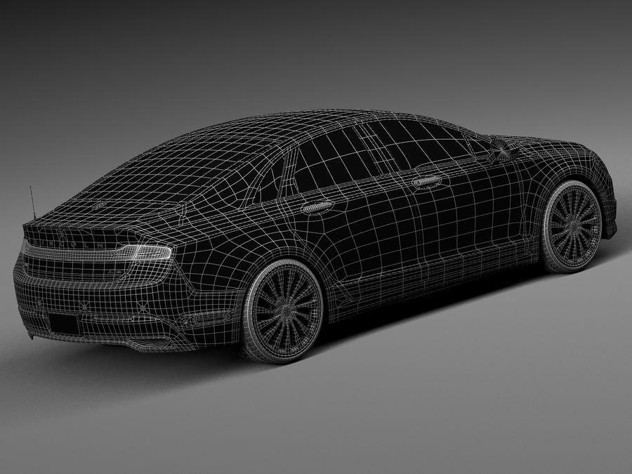 Lincoln MKZ 2017 royalty-free 3d model - Preview no. 16